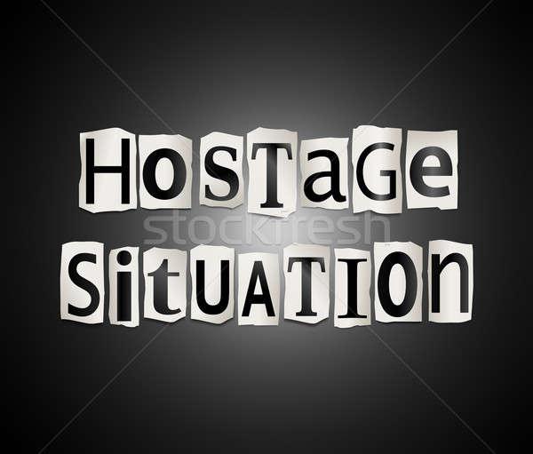 заложник иллюстрация напечатанный письма форме Сток-фото © 72soul
