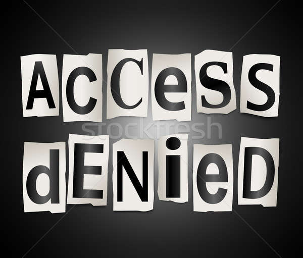 Access denied concept. Stock photo © 72soul