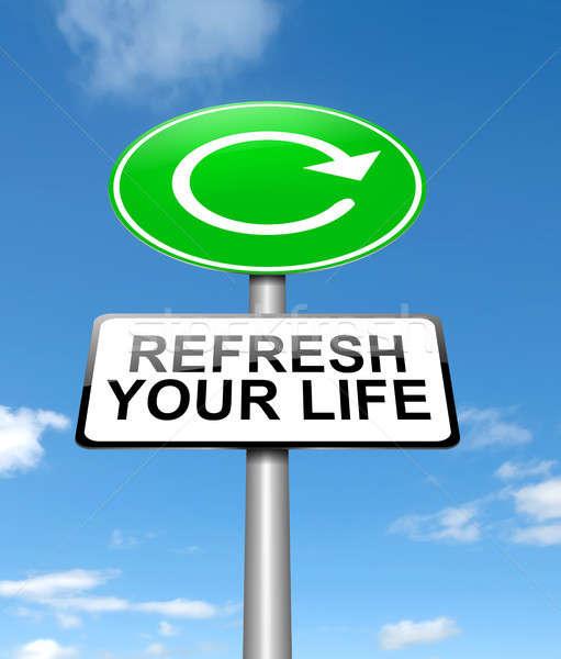Hayat örnek imzalamak arka plan mavi Stok fotoğraf © 72soul
