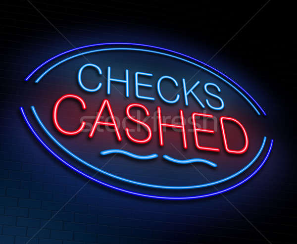 Checks cashed concept. Stock photo © 72soul