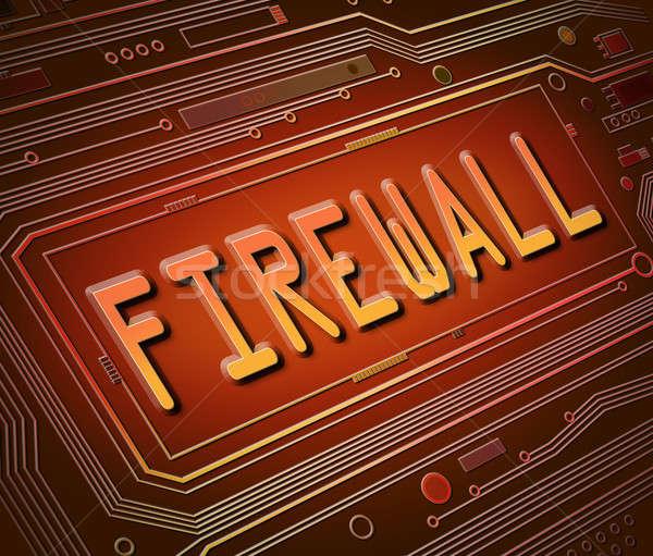 Firewall streszczenie stylu ilustracja składniki Zdjęcia stock © 72soul