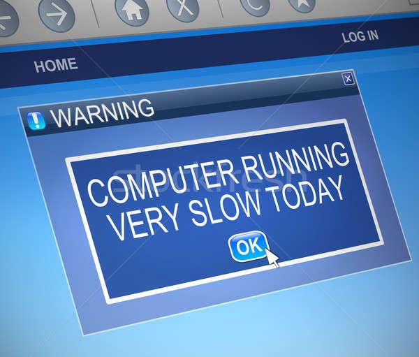 Lassú számítógép illusztráció párbeszéd doboz internet Stock fotó © 72soul