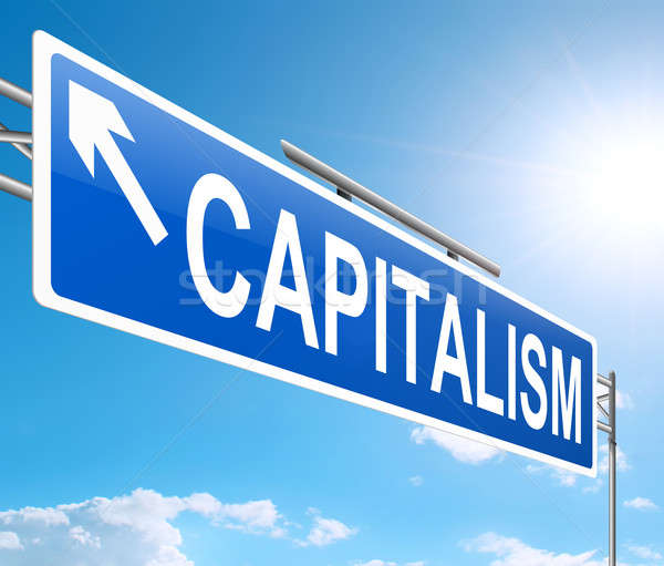 Stock photo: Capitalism concept.