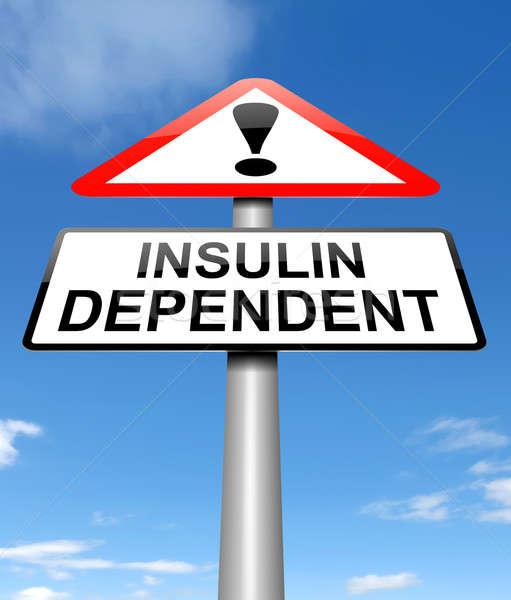 инсулин зависимость иллюстрация знак здоровья медицина Сток-фото © 72soul