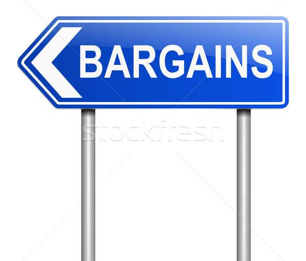 Ilustración signo negocios financiar tienda gráfico Foto stock © 72soul