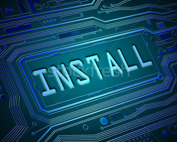 Technology install concept. Stock photo © 72soul