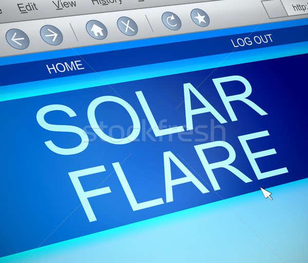 Solar flare concept. Stock photo © 72soul