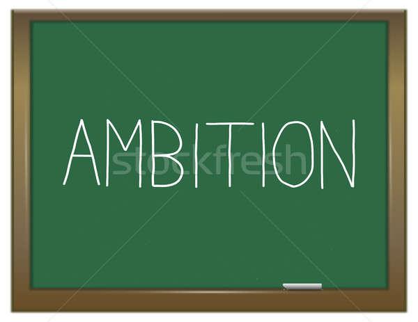 Ambíció szó illusztráció zöld tábla jövő Stock fotó © 72soul