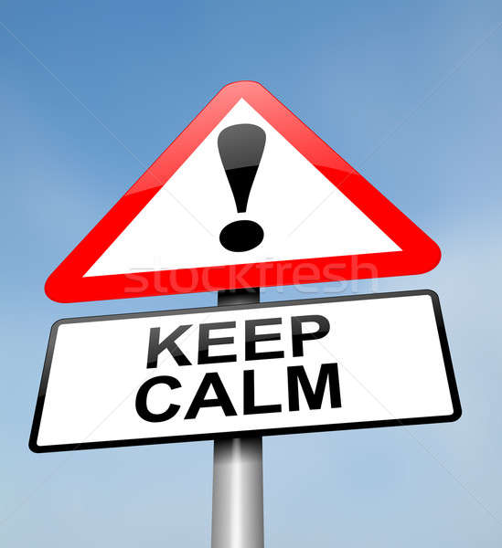 Keep calm. Stock photo © 72soul