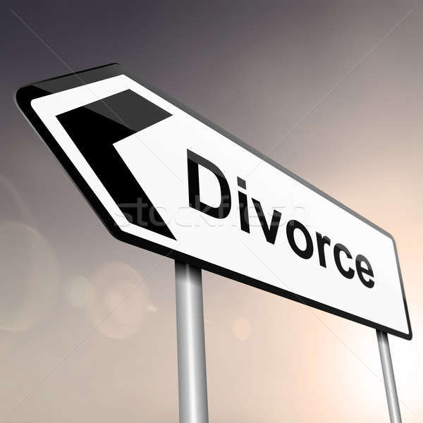 Stock photo: Divorce concept.