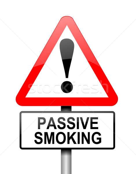 Pasif sigara içme örnek kırmızı beyaz Stok fotoğraf © 72soul
