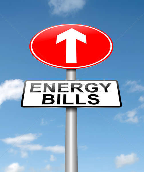 Stock photo: Energy bills concept.