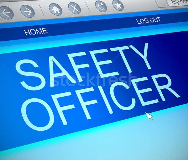 Seguridad oficial línea ilustración pantalla del ordenador capturar Foto stock © 72soul