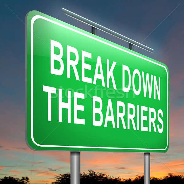 Break down the barriers. Stock photo © 72soul