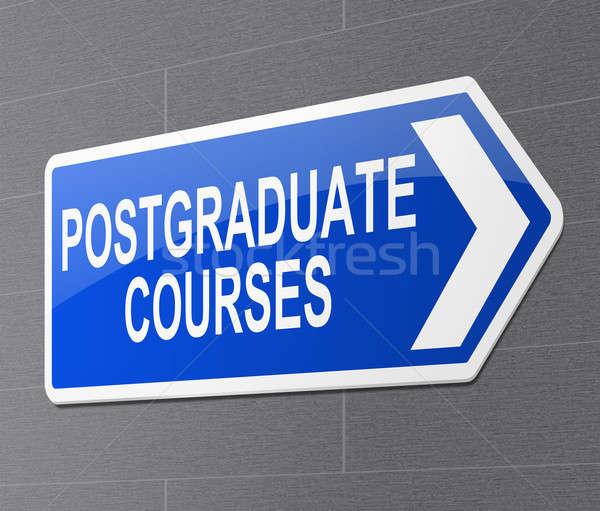 Illustratie teken school onderwijs Blauw college Stockfoto © 72soul