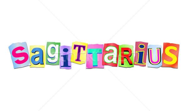 Sagittarius word concept. Stock photo © 72soul