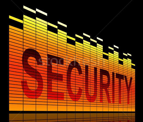 безопасности иллюстрация графических эквалайзер аннотация черный Сток-фото © 72soul