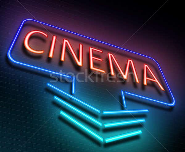 Cinema sign concept. Stock photo © 72soul