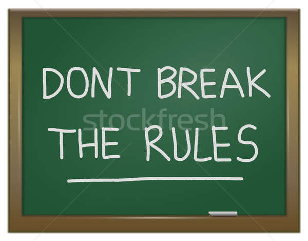 Romper reglas ilustración verde tiza bordo Foto stock © 72soul