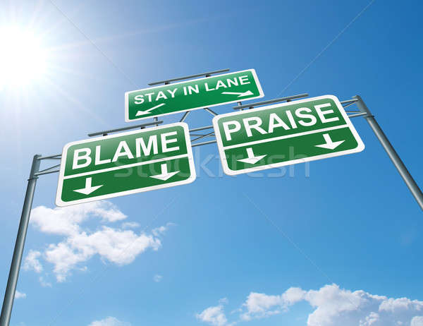 Praise or blame concept. Stock photo © 72soul