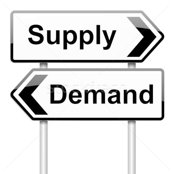 Suministrar demanda ilustración negocios mercado Foto stock © 72soul