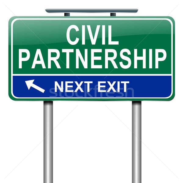 Civile association illustration blanche sexe Photo stock © 72soul