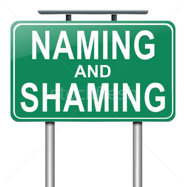 Naming and shaming concept. Stock photo © 72soul