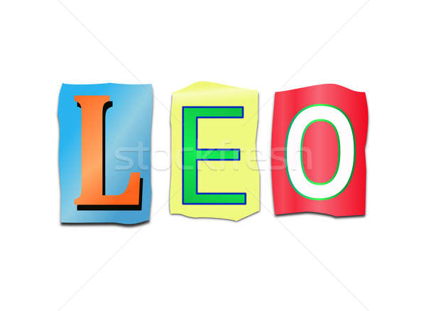Leo word concept. Stock photo © 72soul