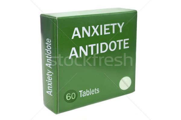 Depresszió közelkép zöld doboz szavak szorongás Stock fotó © 72soul