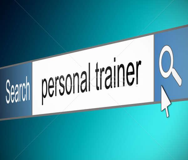 Personal trainer ricerca illustrazione schermo shot internet Foto d'archivio © 72soul