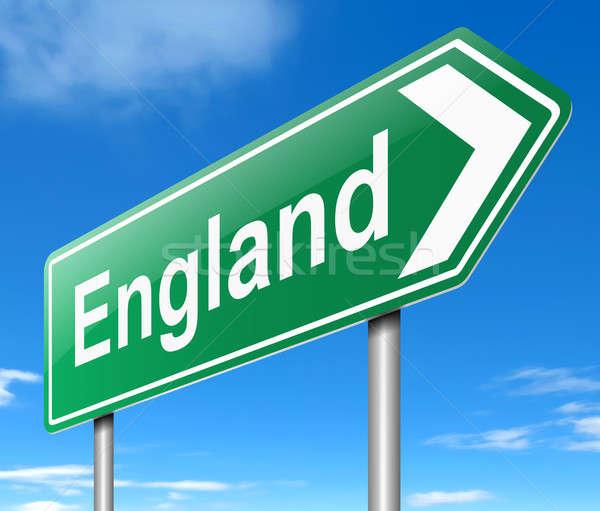 Anglii ilustracja podpisania niebo drogowego Zdjęcia stock © 72soul