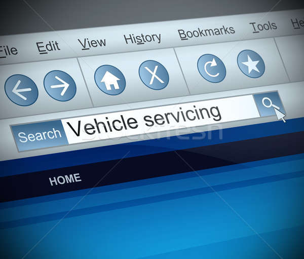 Vehicle serving concept. Stock photo © 72soul