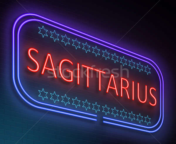 Sagittarius sign concept. Stock photo © 72soul