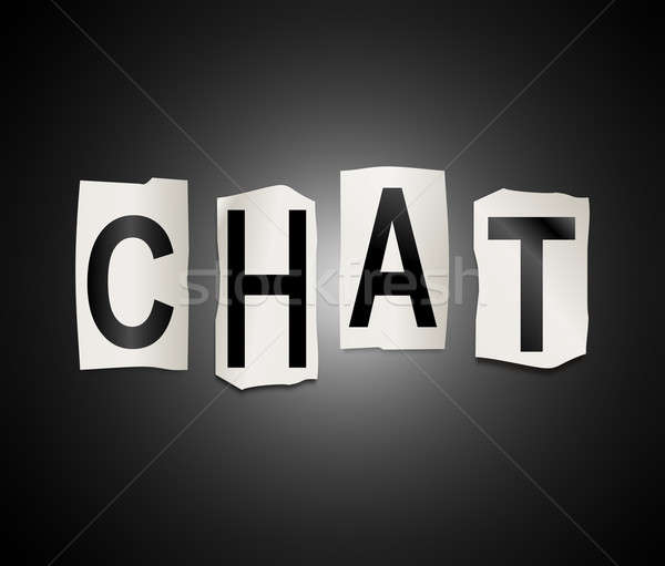 Chat word concept. Stock photo © 72soul