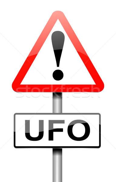 Ufo imzalamak örnek uzay grafik kavram Stok fotoğraf © 72soul