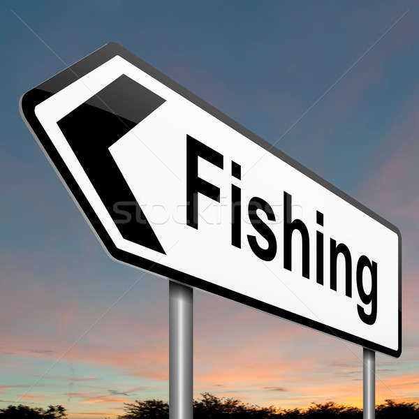 Fishing concept. Stock photo © 72soul