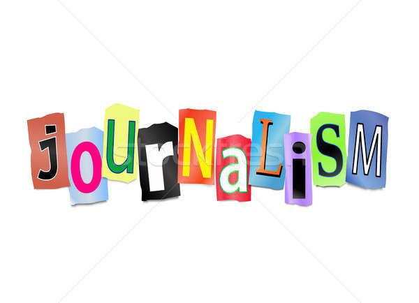Journalisme illustration lettres forme mot Photo stock © 72soul