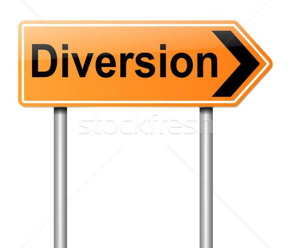 Diversion sign. Stock photo © 72soul