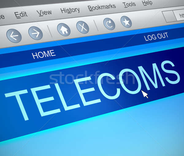 Telecoms information concept. Stock photo © 72soul