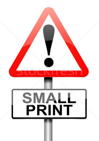 Pequeño impresión ilustración blanco negocios Foto stock © 72soul