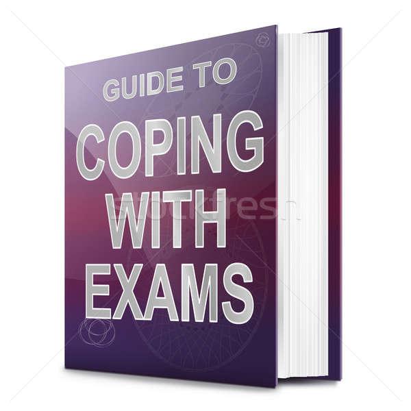 Exames ilustração livro título branco escolas Foto stock © 72soul