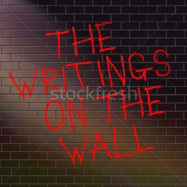 The writings on the wall. Stock photo © 72soul