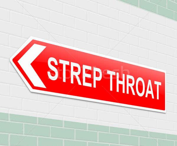Strep Throat concept. Stock photo © 72soul
