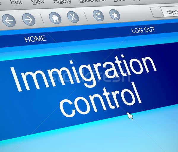 Immigratie controle illustratie computerscherm vangen reizen Stockfoto © 72soul