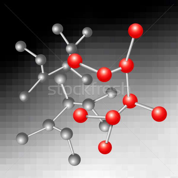Moleculair illustratie structuur abstract bouw medische Stockfoto © 72soul