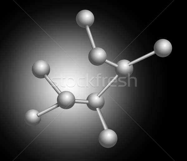 Moleculair illustratie structuur zwarte grijs bouw Stockfoto © 72soul