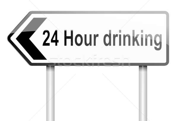 24 hour drinking. Stock photo © 72soul
