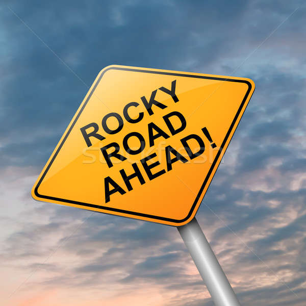 Rocky road ahead. Stock photo © 72soul
