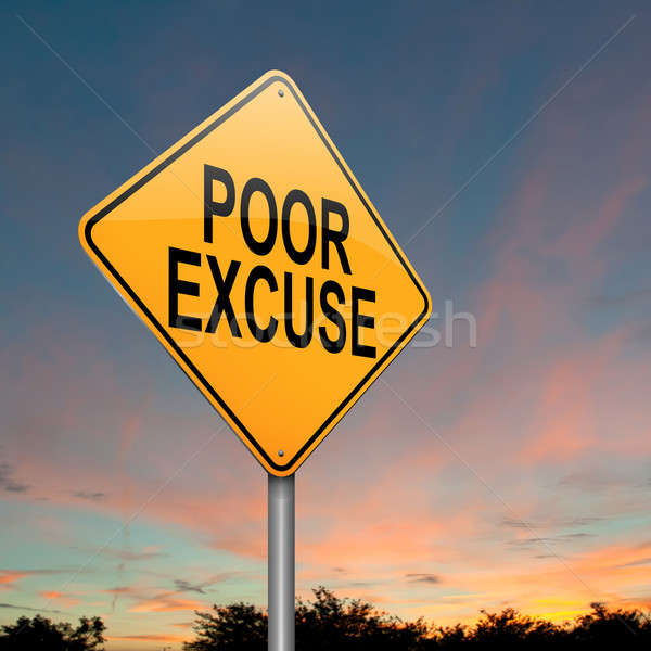 Poor excuse concept. Stock photo © 72soul