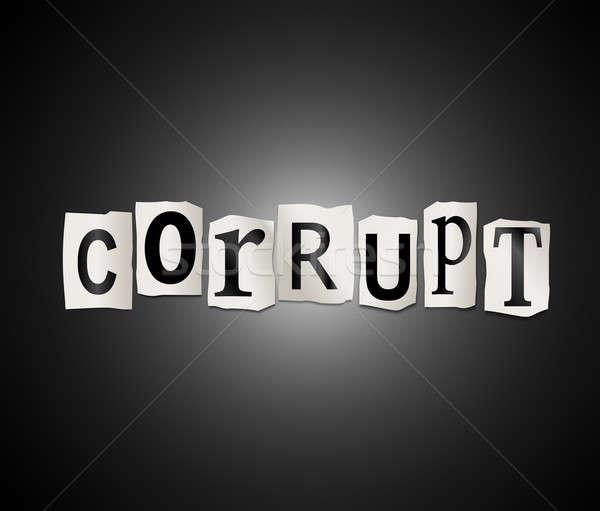 Corrupção ilustração impresso cartas forma Foto stock © 72soul